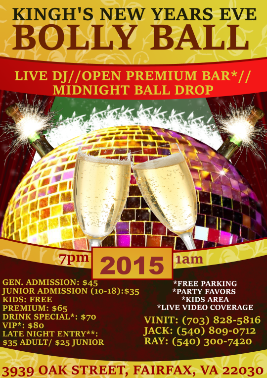 New Years Eve Bolly Ball